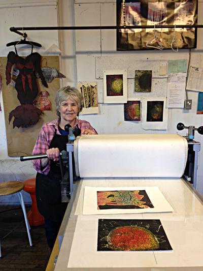 Pauline Jakobsberg in her studio